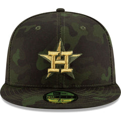 Houston Astros New Era MLB 2019 Armed Forces On-Field 59FIFTY Fitted Hat - Camo