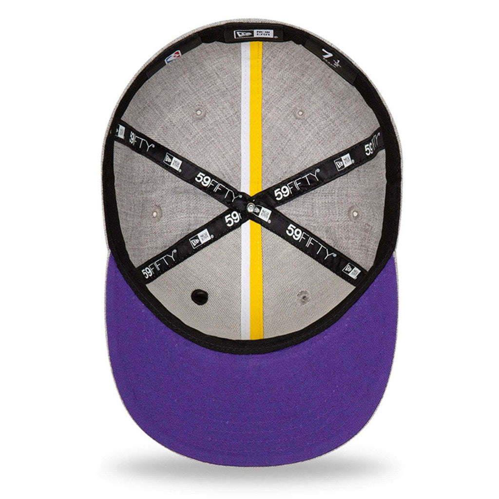 26a8eaf2268b87 Los Angeles Lakers New Era 2019 NBA Draft 59FIFTY Fitted Hat - Heather