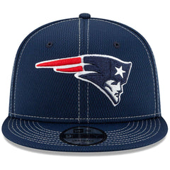New England Patriots New Era NFL 2019 Sideline Road 9FIFTY Snapback Hat - Navy