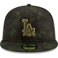 Los Angeles Dodgers New Era MLB 2019 Armed Forces On-Field 59FIFTY Fitted Hat - Camo