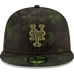 New York Mets New Era MLB 2019 Armed Forces On-Field 59FIFTY Fitted Hat - Camo