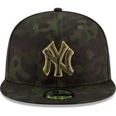 New York Yankees New Era MLB 2019 Armed Forces On-Field 59FIFTY Fitted Hat - Camo