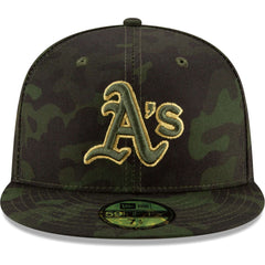 Oakland Athletics New Era MLB 2019 Armed Forces On-Field 59FIFTY Fitted Hat - Camo