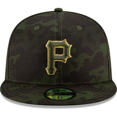 Pittsburgh Pirates New Era MLB 2019 Armed Forces On-Field 59FIFTY Fitted Hat - Camo