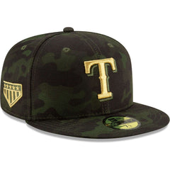 Texas Rangers New Era MLB 2019 Armed Forces On-Field 59FIFTY Fitted Hat - Camo