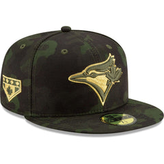 Toronto Blue Jays New Era MLB 2019 Armed Forces On-Field 59FIFTY Fitted Hat - Camo