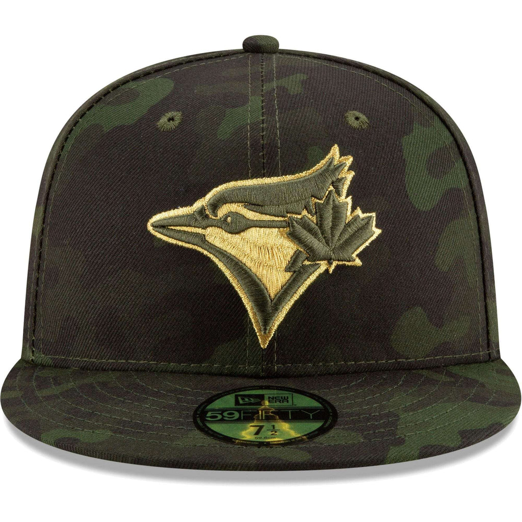 5390b7f4817df2 Toronto Blue Jays New Era MLB 2019 Armed Forces On-Field 59FIFTY Fitted Hat  -