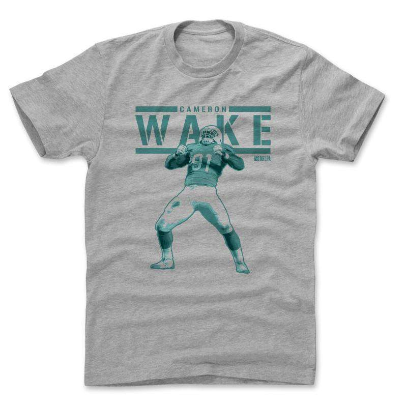 Cameron Wake Miami Dolphins 500 Level NFL Play T-Shirt - Grey