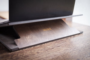 The WoodEst custom engraved laptop stand