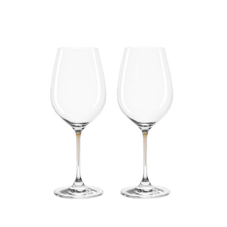 Leonardo Clear Wine Glass Set Chestnut Stem