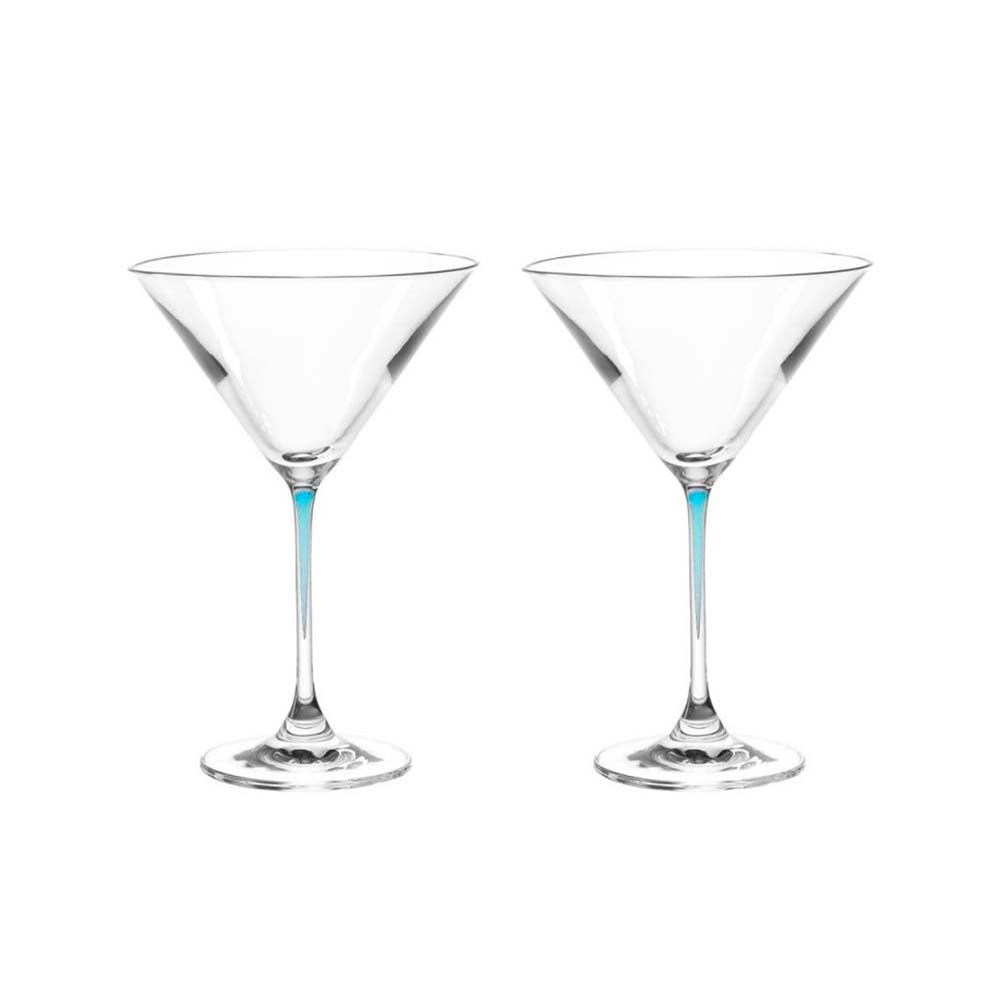 Leonardo Cocktail Glass with Blue Stem LA Perla Set of 2