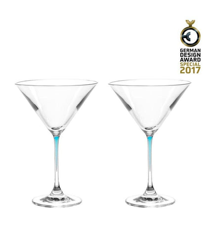 Leonardo Cocktail Glass Set Blue Stem LA Perla