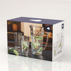 Leonardo Jug with 4 Tumblers Optic – 5 Piece Set