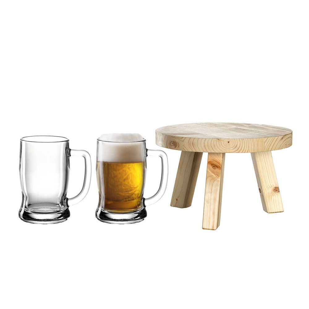 Leonardo Keg Base and Beer Mugs 380ml Colorata - 3 Piece Set