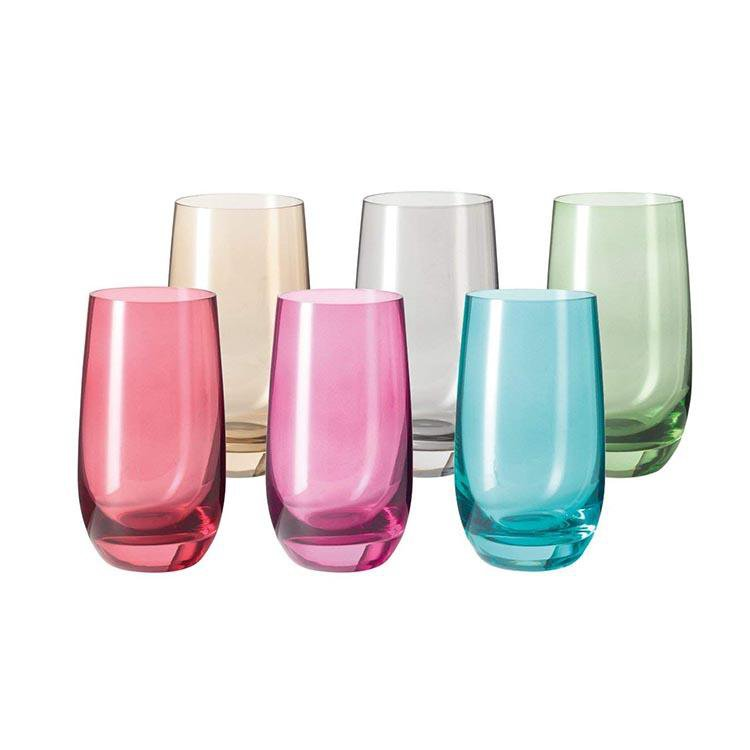Leonardo Tall Drinking Glasses in Assorted Colours SORA 6 Piece