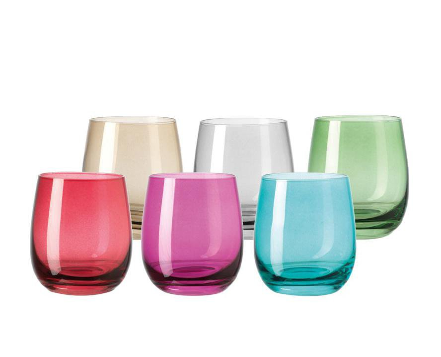 Leonardo Drinking Glass Tumblers in Assorted Colours SORA 6 Piece
