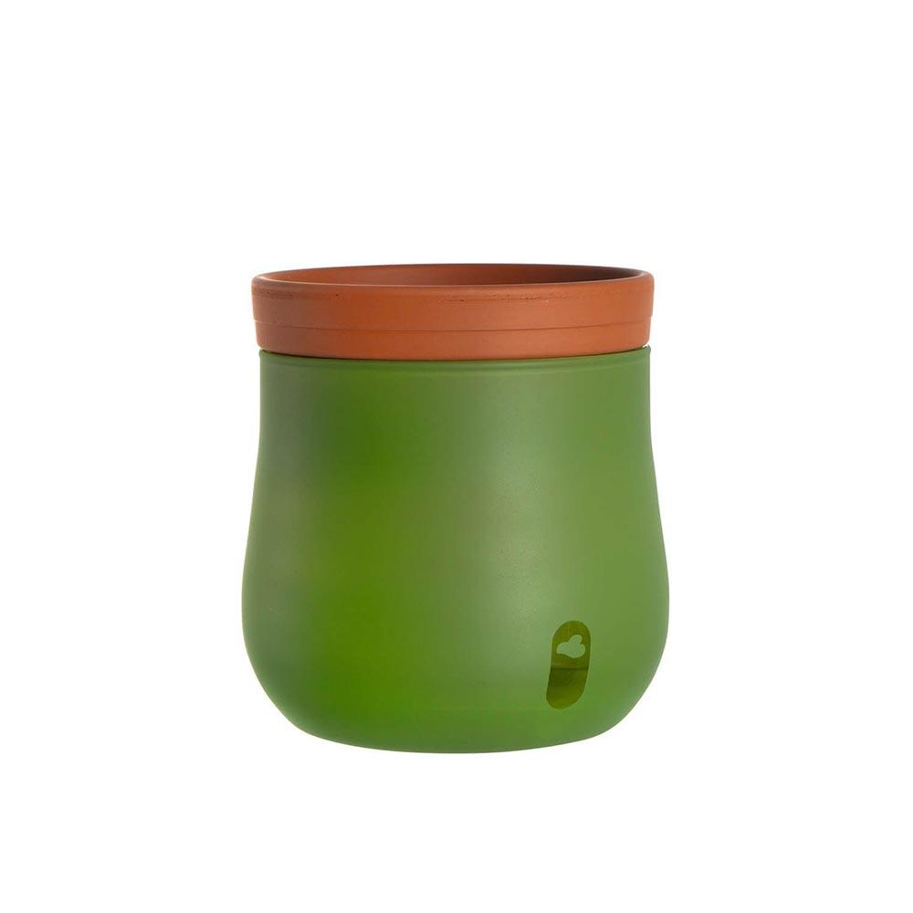 Leonardo Planter Pot Self-Watering Large - Green