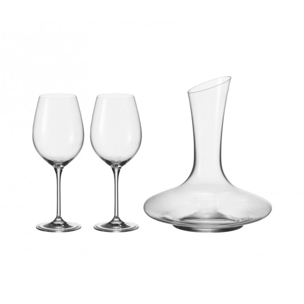 Leonardo Red Wine Decanter & Glasses BARCELONA Set 3 Pieces