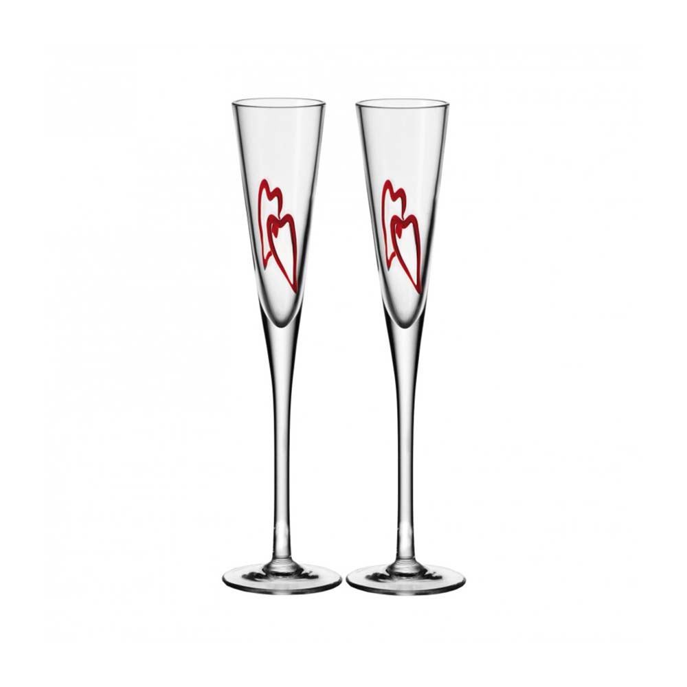 Leonardo Champagne Glass Heart 2 Piece