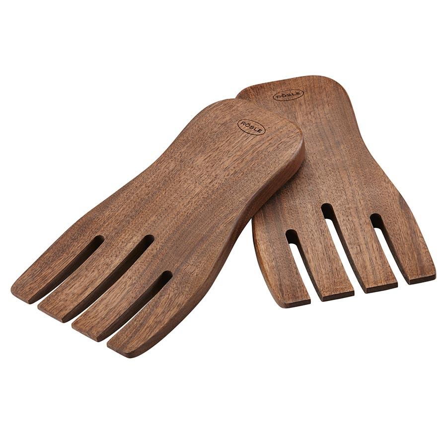 Roesle Wooden Salad Hands Servers - 2 Piece