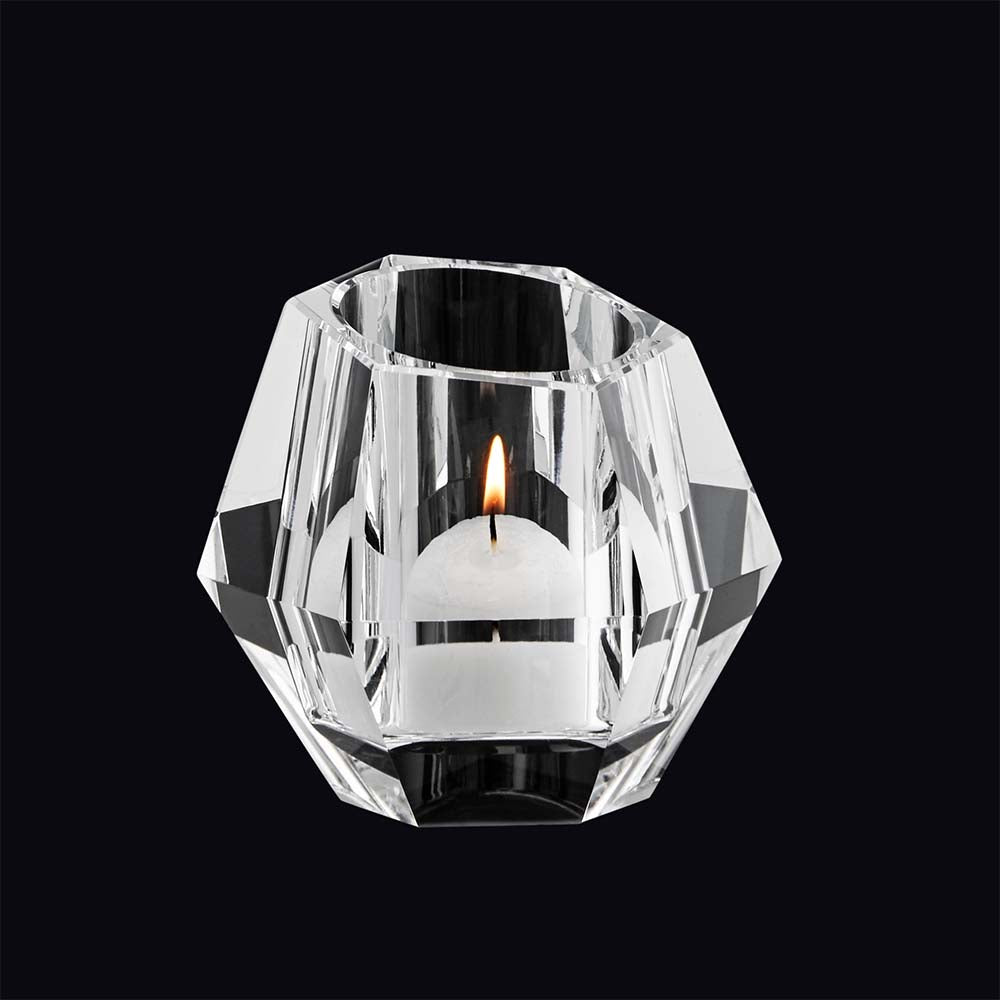 Vagnbys Diamond Tea Light Holder - Crystal