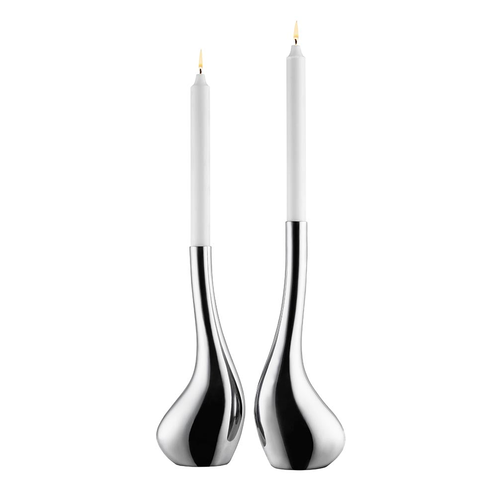 Vagnbys Mr and Mrs Swan Candlestick Set