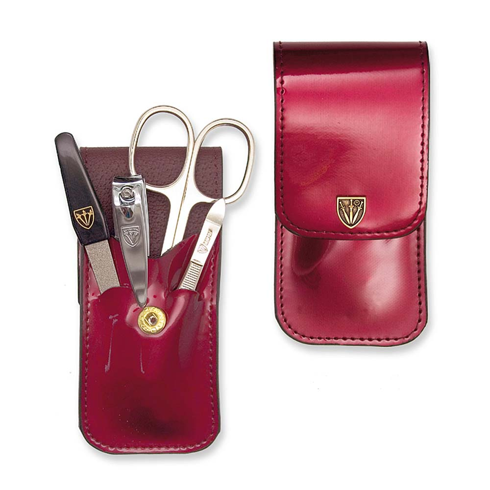Kellermann 3 Swords Manicure Set Laquered Burgundy 5802 P G