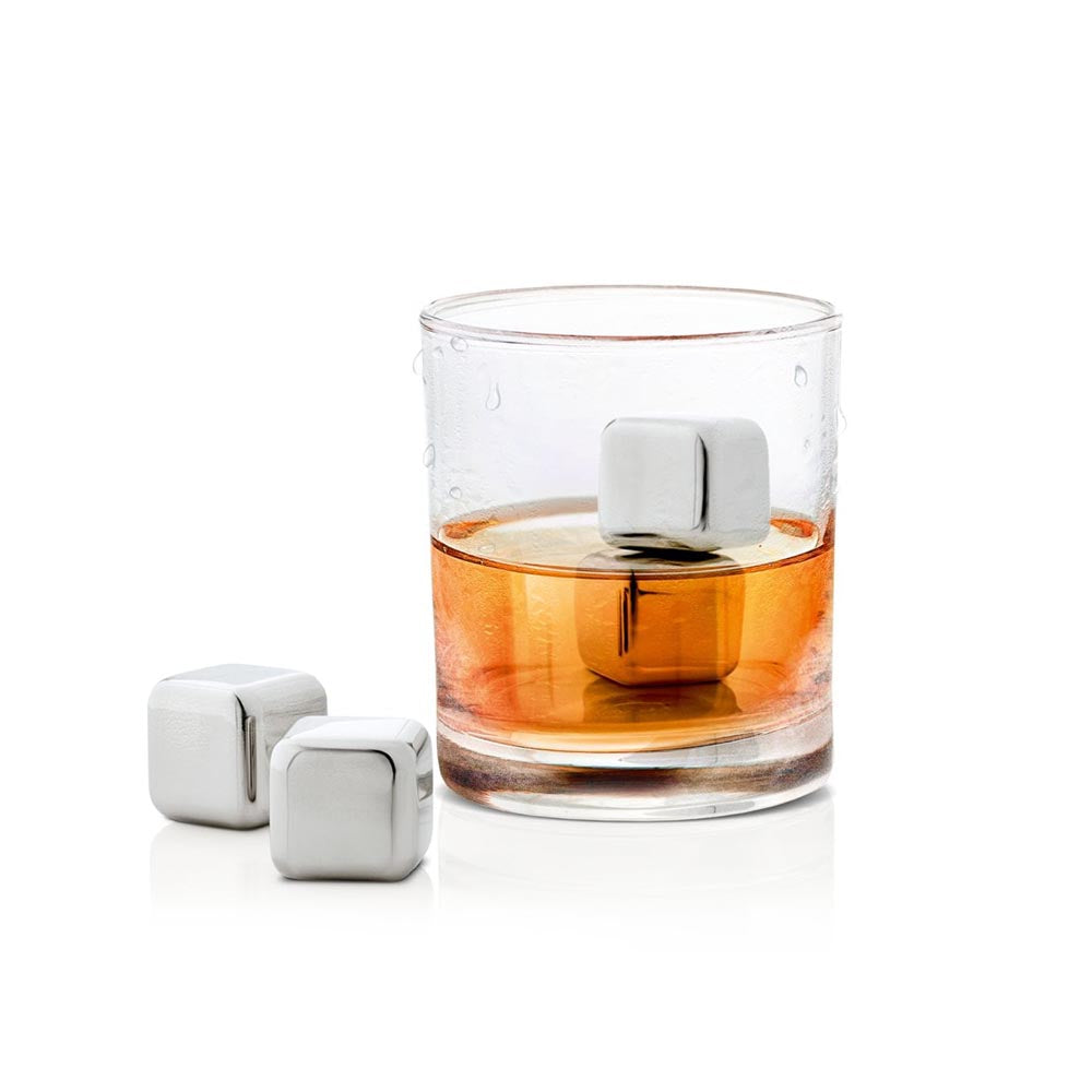 Blomus Set 4 Ice Cubes Polished Stainless Steel