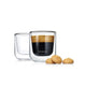 Blomus Set 2 Insulated Espresso Or Tea Glasses Nero