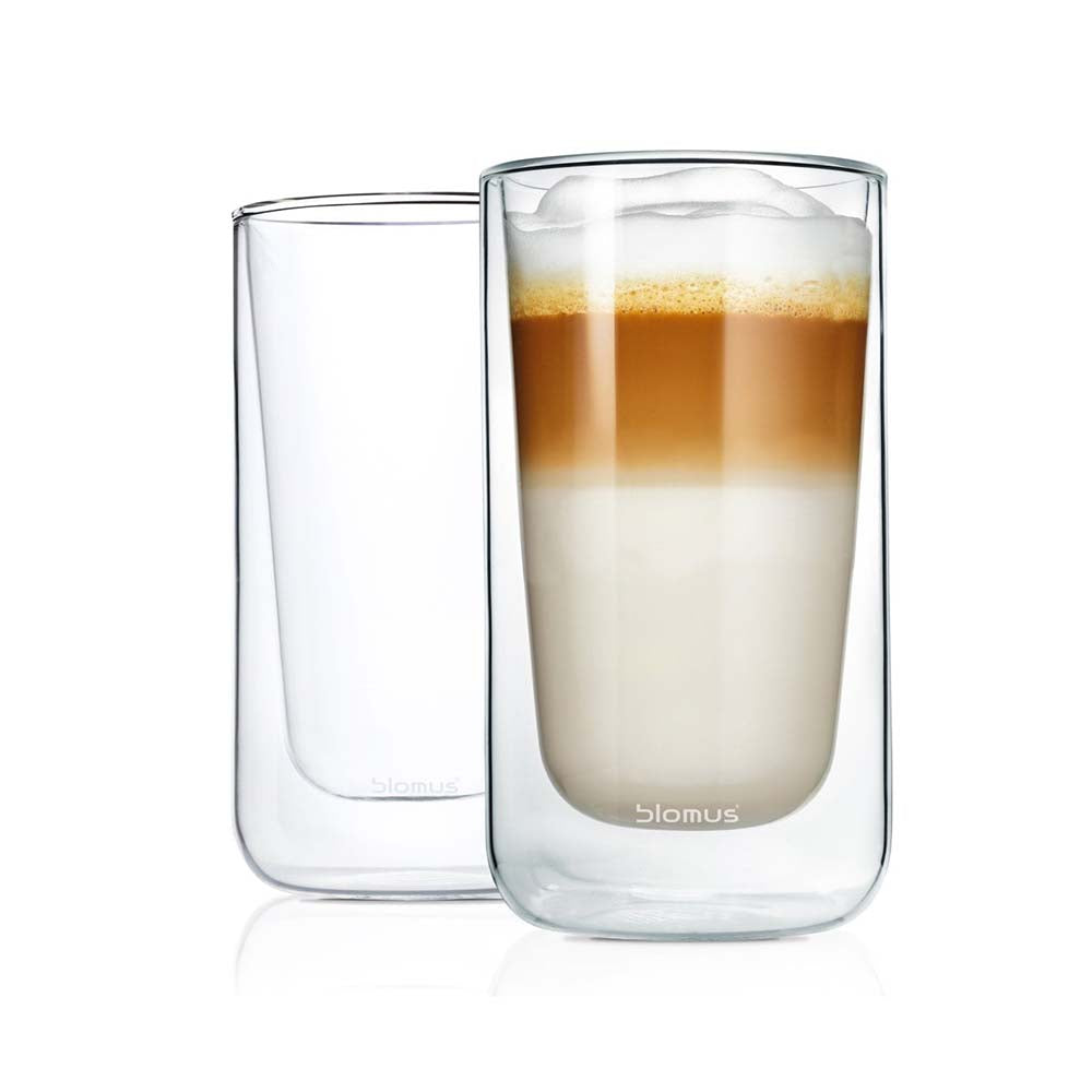 Blomus Nero Set 2 insulated Latte Macchiato / Tea Glasses