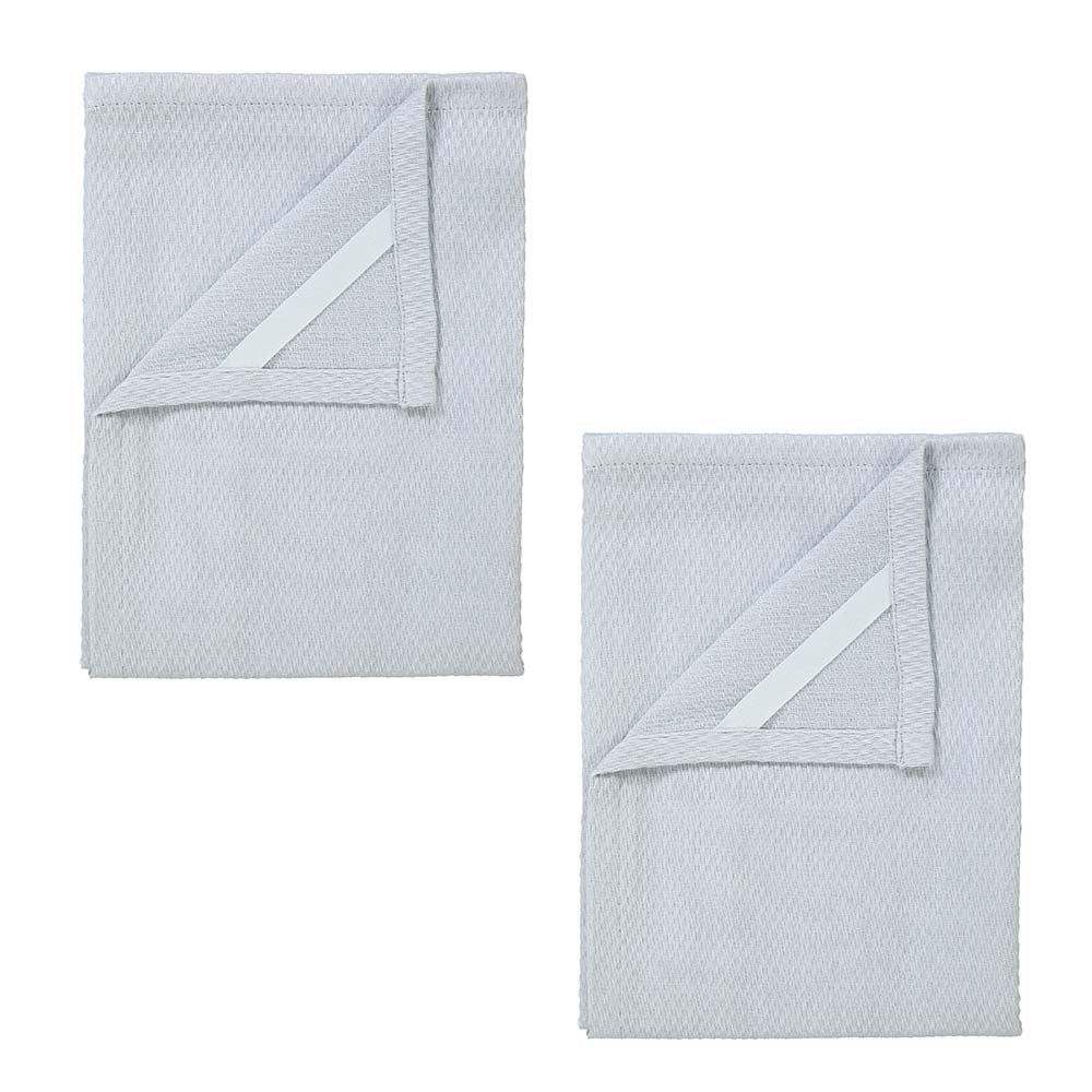 Blomus QUAD Set of 2 Tea Towels - Microchip