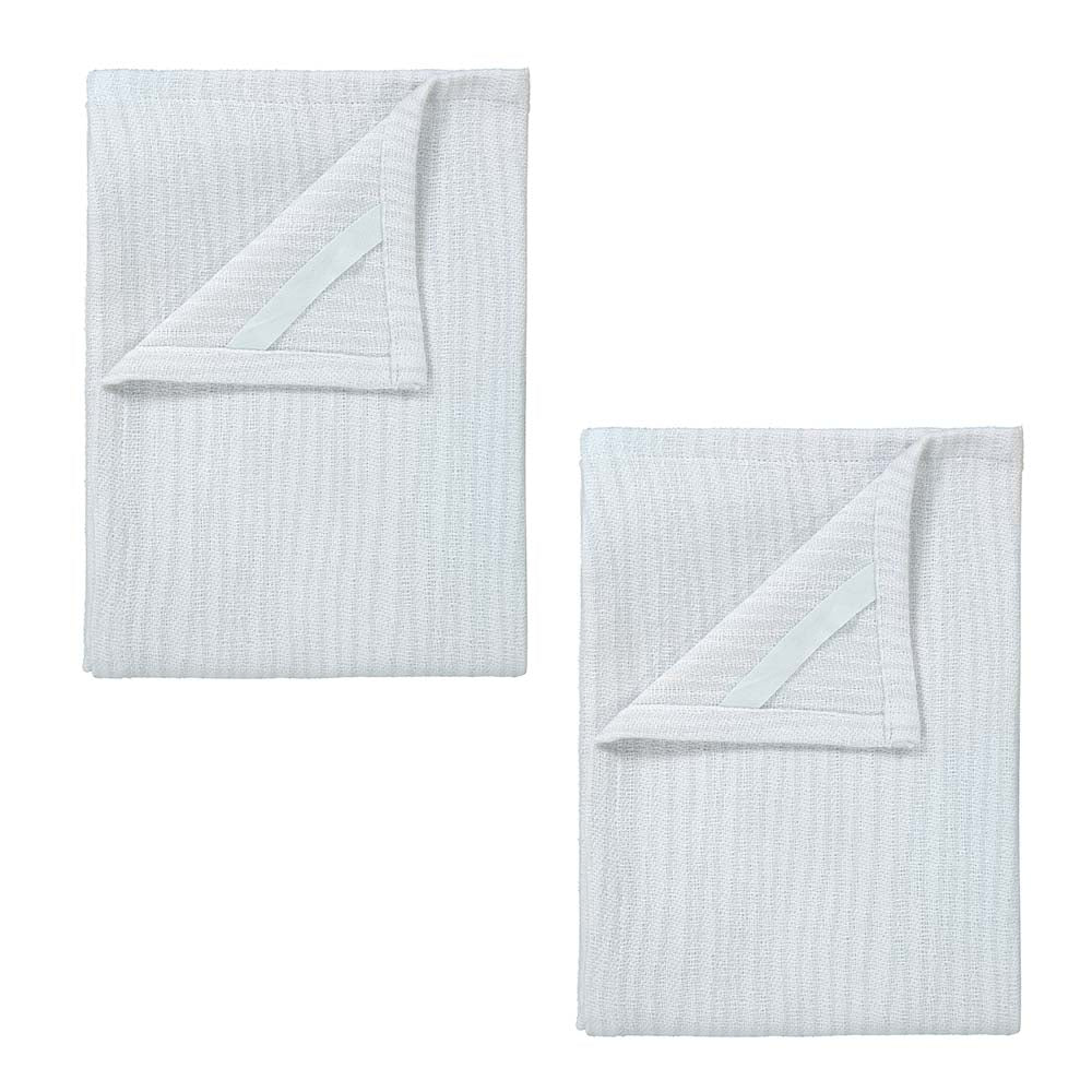 Blomus BELT Set of 2 Tea Towels - Lily White/Microchip