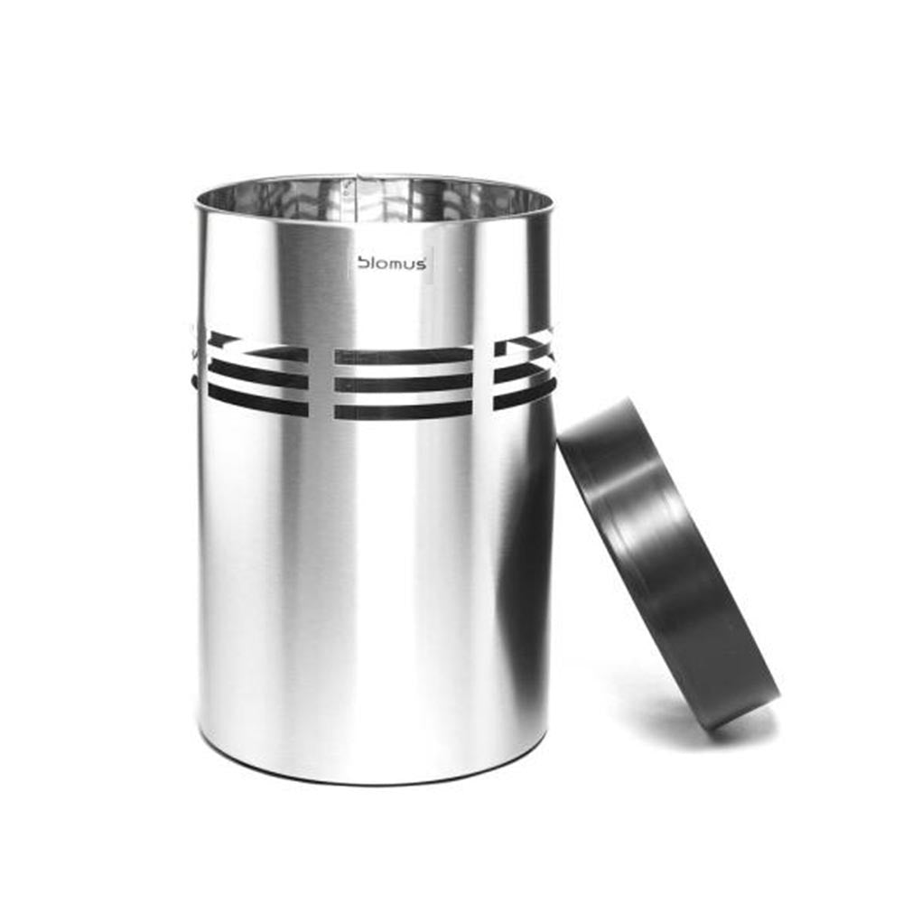 Blomus SLICE Wastepaper Bin Stainless-Steel Matte - 250 mm