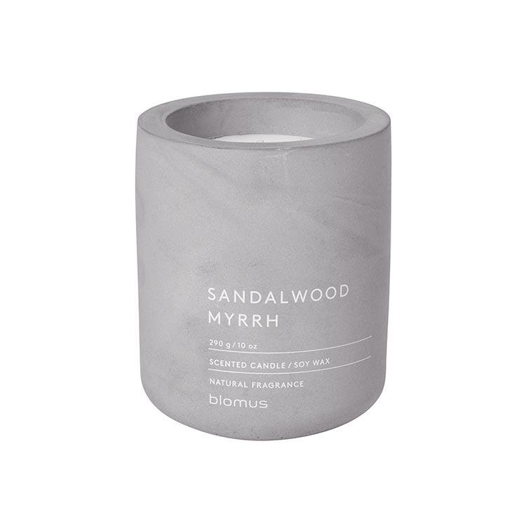 Blomus Scented Candle in Container Sandalwood and Myrrh Grey FRAGA Large