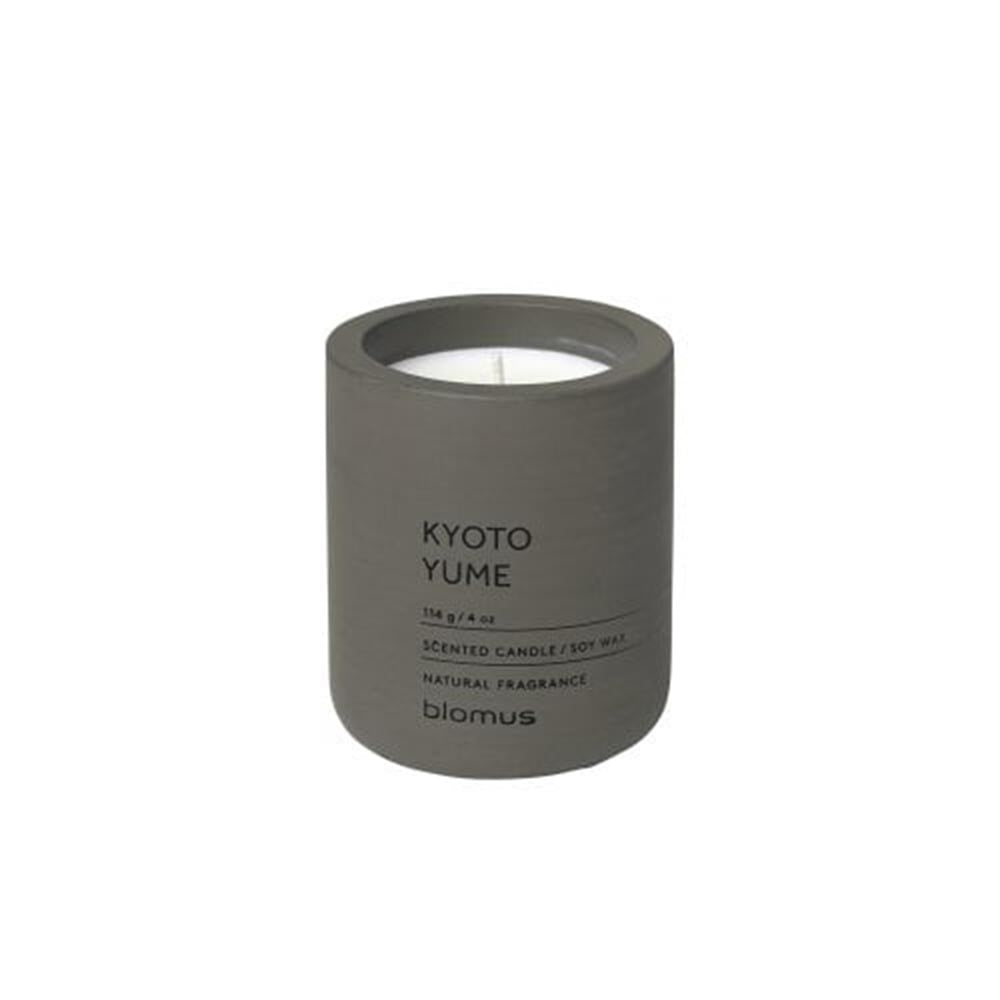 Blomus Scented Candle in Dark-Grey Container 6.5cm - Kyoto Yume