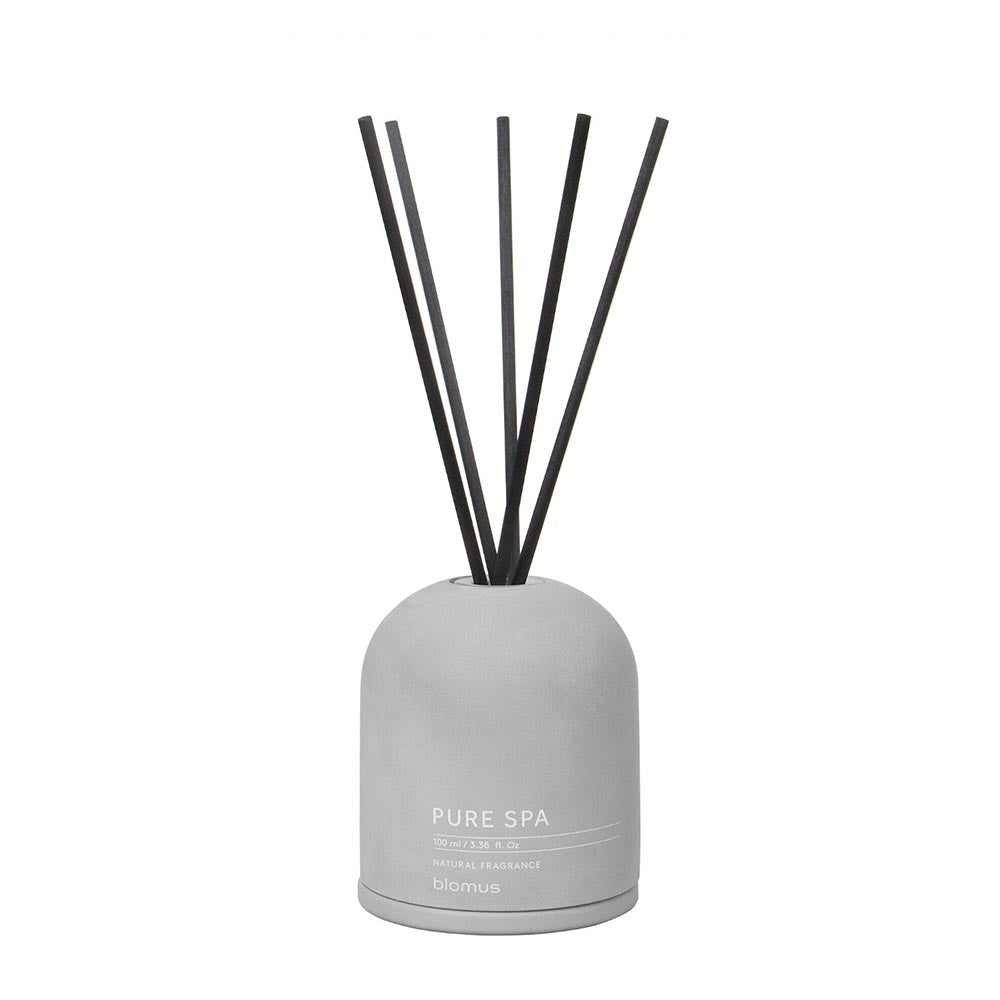 Blomus FRAGA Room Diffuser - Sandalwood & Myrrh Scent in Light Grey Container 100ml