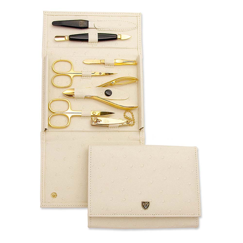 Kellermann 3 Swords Manicure Set Ostrich Beige 7410 P N