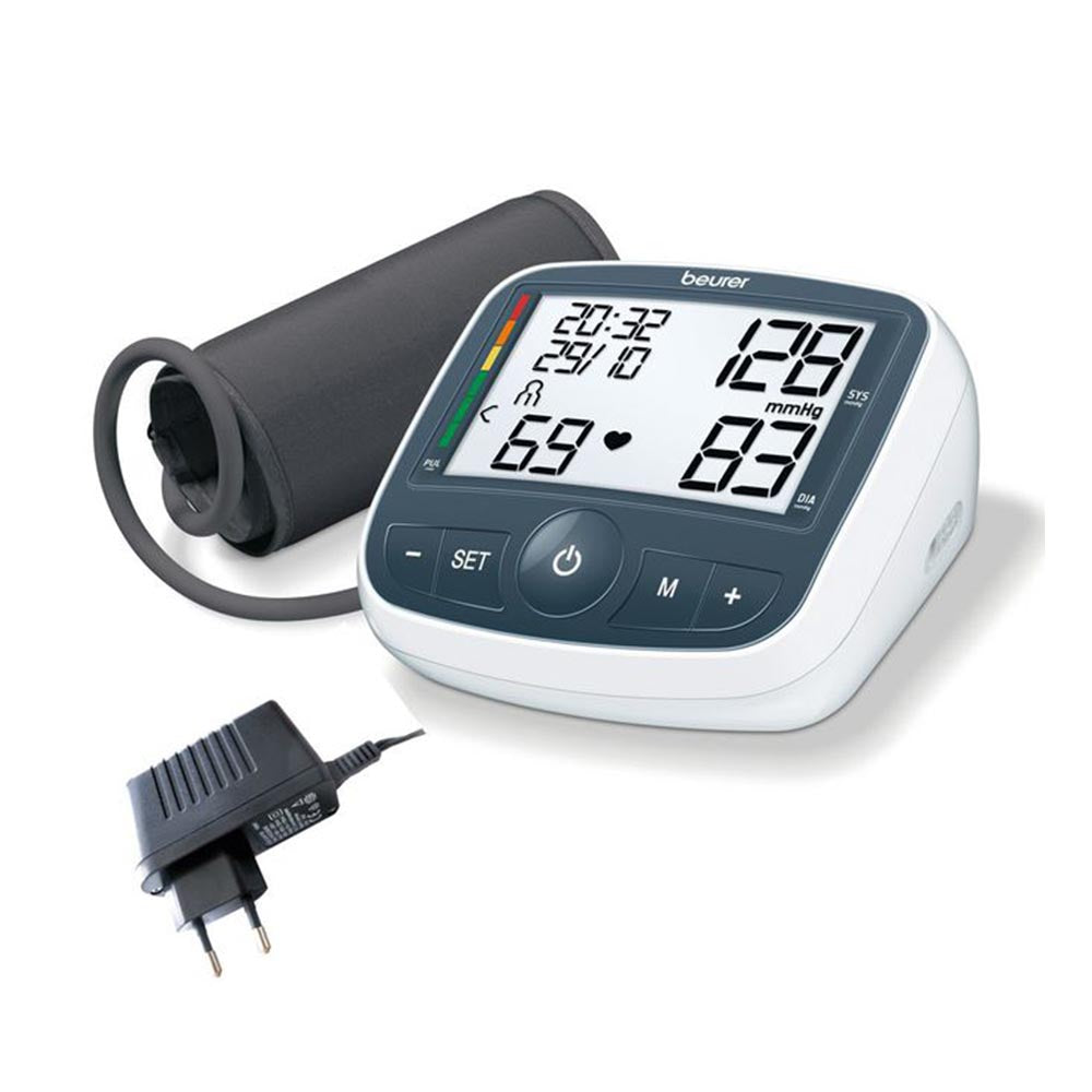 Beurer Upper Arm Blood Pressure Monitor BM 40 with Mains Adaptor