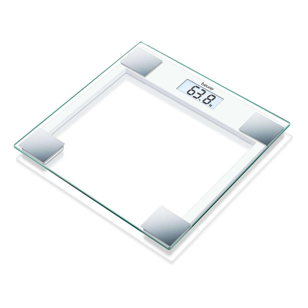 Beurer GS 14 Glass Bathroom Scale - White