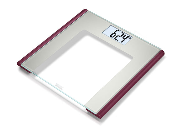 Beurer Glass Bathroom Scale GS 170 Ruby