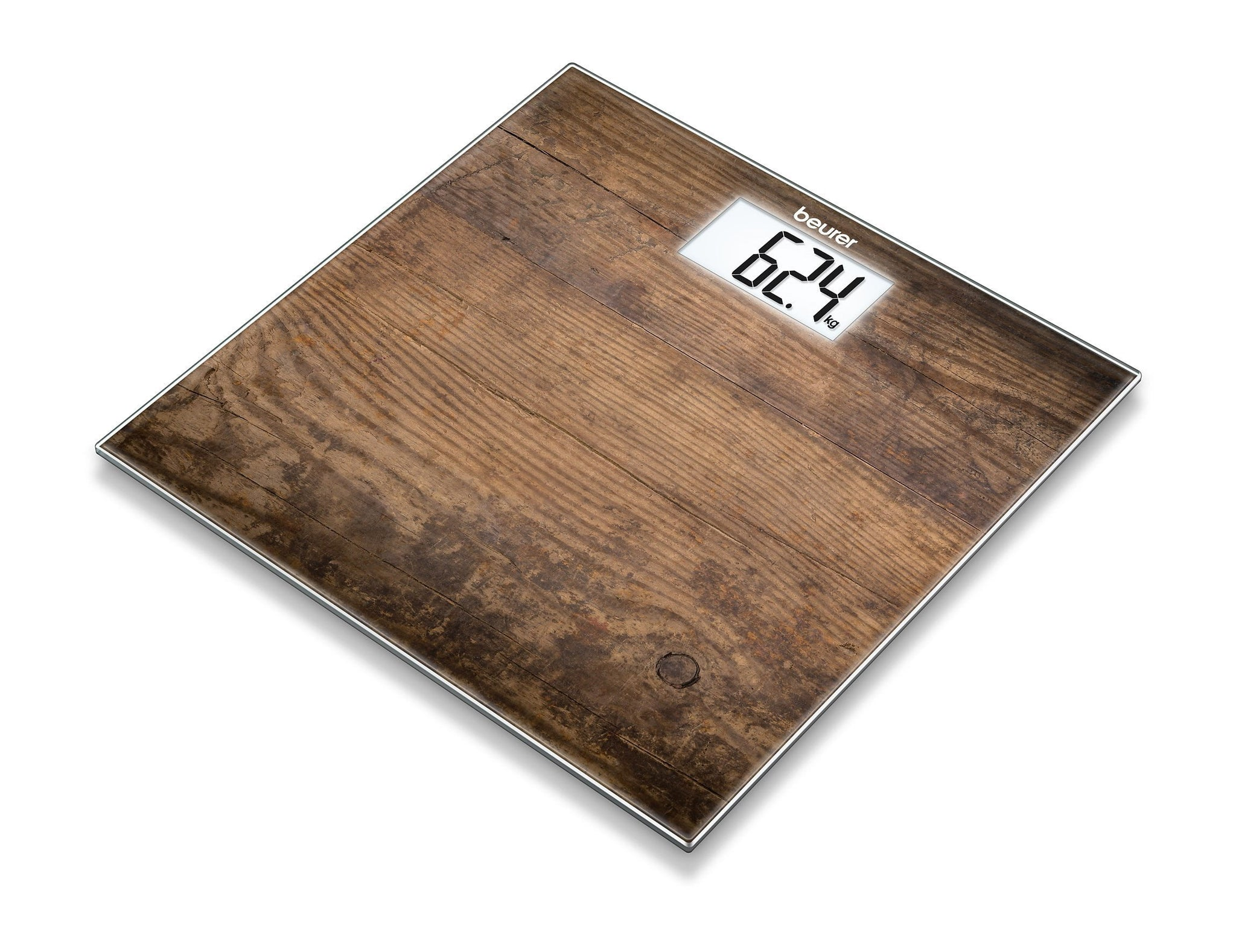 Beurer Glass Bathroom Scale GS 203 - Wood
