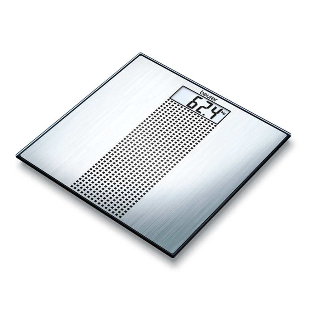 Beurer Glass Bathroom Scale GS 36 Stainless Steel Design