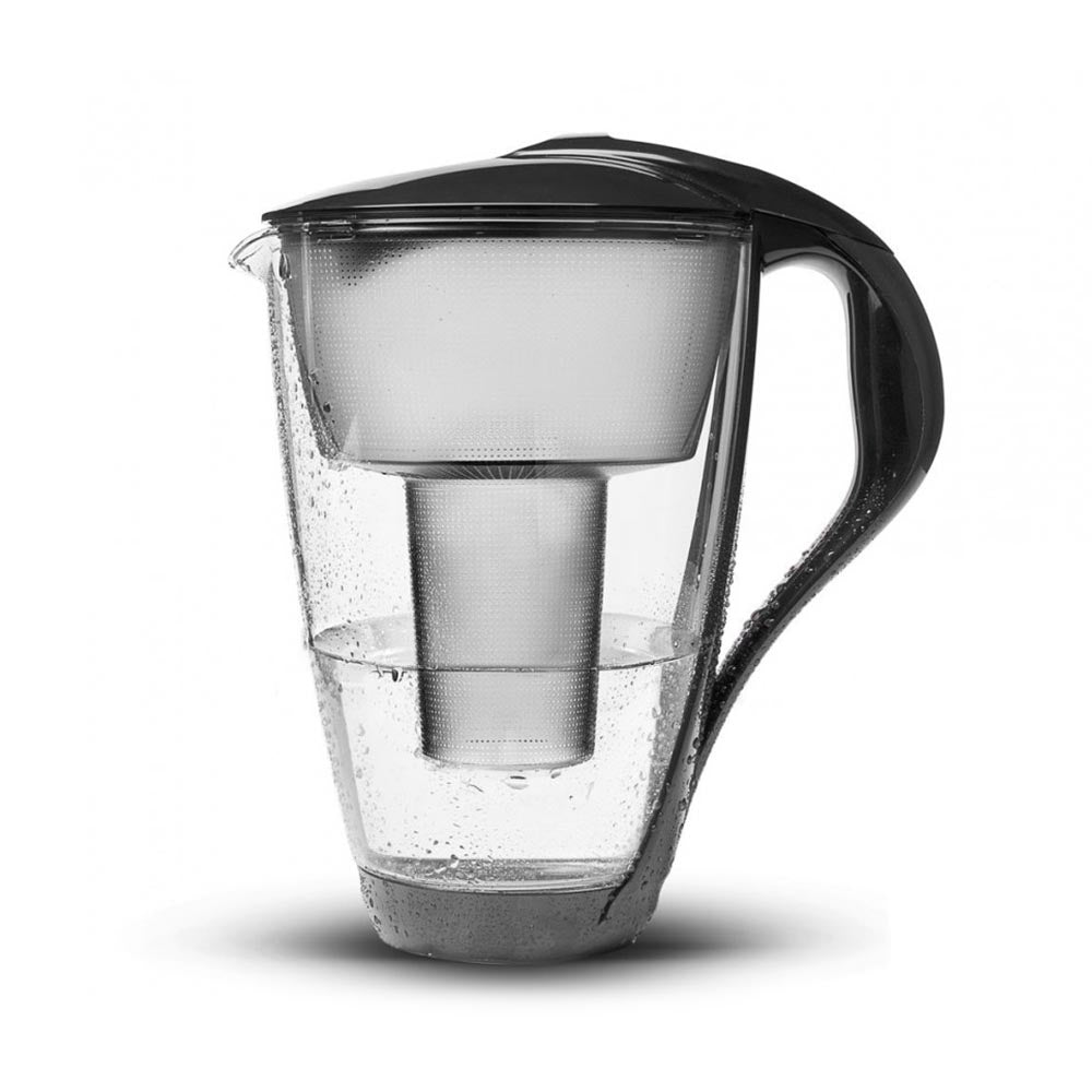 PearlCo Glass Water Filter Jug - Anthracite