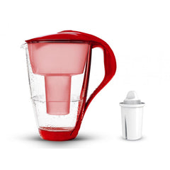 PearlCo Glass Water Filter Jug - Red