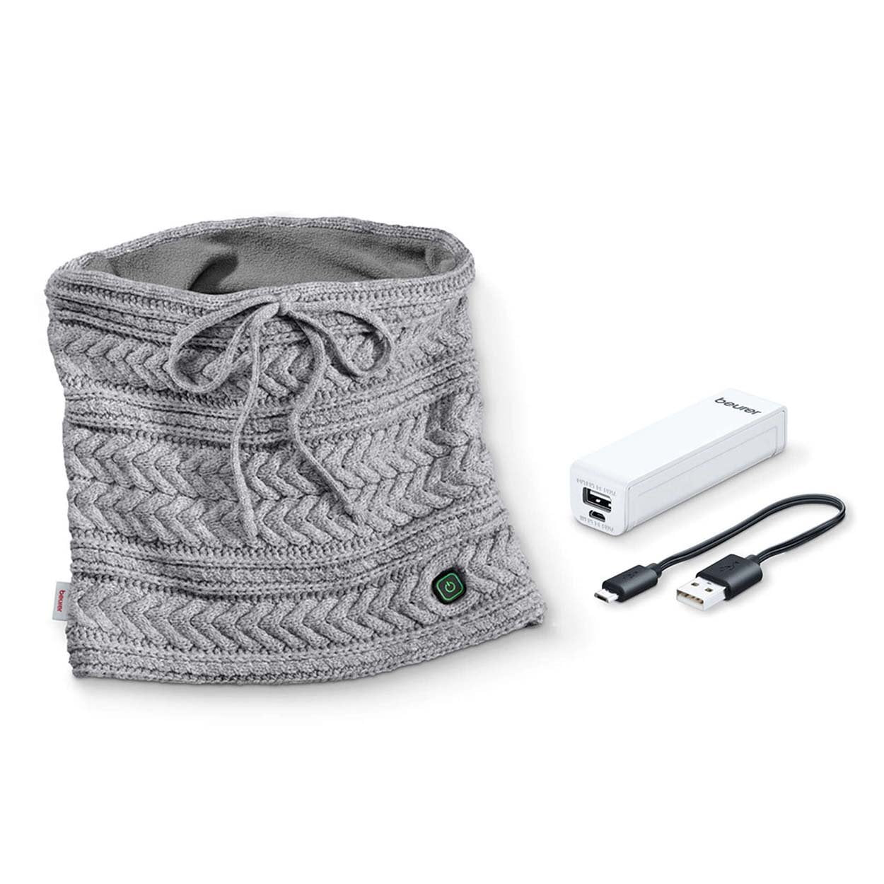 Beurer Heated Tube Scarf with Powerbank HK 37
