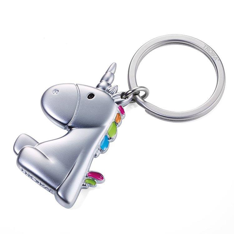 TROIKA Keyring with Unicorn Charm