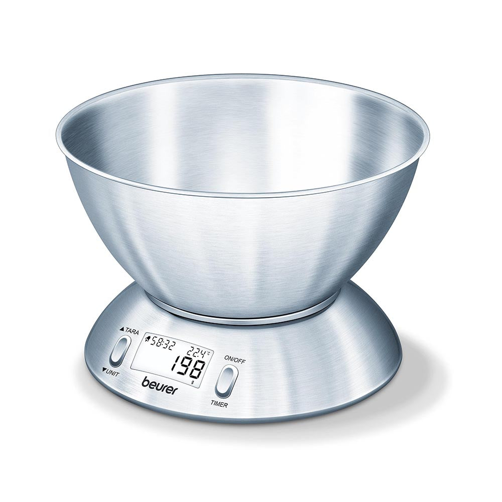 Beurer Kitchen Scale KS 54 With Stainless Steel Bowl