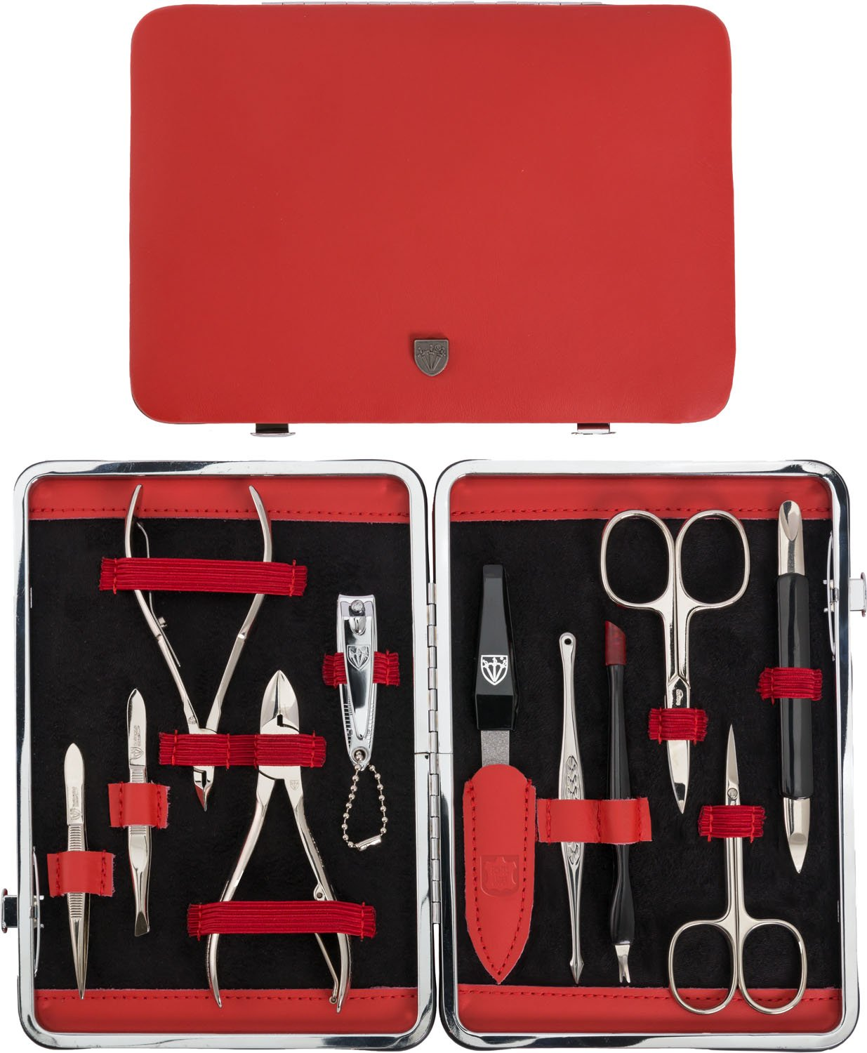 Kellermann Manicure Set Red Genuine Leather L 58383 P N