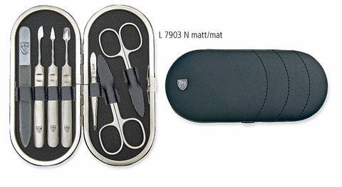 Kellermann Manicure Set Black, Genuine Leather 3