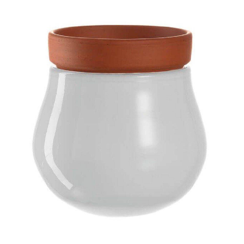 Leonardo Plant Pot Planter White with Pot Insert SERRA Small – 2 Pieces